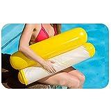 HUOFEIKE Schwimmende Wasser-Hängematte, schwimmender Pool, Wasser Hängematte Lounge Chair Sommerfest tragbare Float Hängematte Schwimmstuhl für Erwachsene und Kinder,Yellow