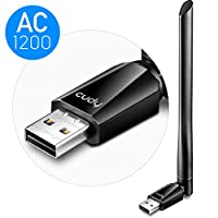 Cudy AC1200 High Gain Dual Band USB WiFi Adapter, 1200Mbps WiFi Adapter, 5Ghz / 2.4Ghz Dual Band, External Antenna, Compatible with Windows Vista / 7/8 / 8.1/10, mac OS, Linux. WU1200