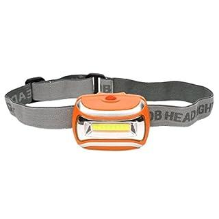 COB Outdoor LED Head Lamp Torch 5W Headlight 600 Lumens Bright Adjustable Angle (Orange)