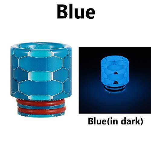Drip Tip 510 Anschluss Verdampfer Resin Atomizer Mundstück E-Zigarette Nicotine Free Blue - Drip Tip