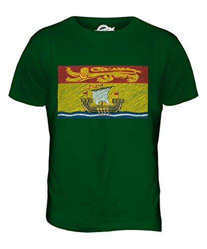 CandyMix New Brunswick Kritzelte Flagge Herren T Shirt Flaschengrün