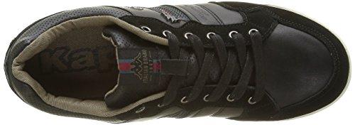 Kappa Herren Kinay 2 Sneaker Schwarz - Noir (Black/Otter Brwn/Red Dahlia)