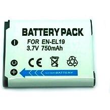 EN-EL19 ENEL19 750 mah Batería para NIKON COOLPIX S100, S2500, S2550, S2600, S3100, S3200, S3300, S4100, S4150, S4300 Digital Cameras