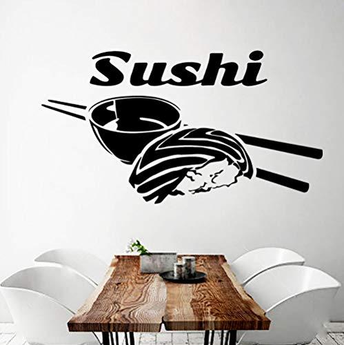 Lxwrnv Diy Sushi Vinyl Aufkleber Küche Wohnzimmer Wohnkultur Wandtattoo 42 * 77 Cm Sushi Glas