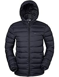 Mountain Warehouse Season Mens Jacket - Padded Mens Coat, Lightweight, Water Resistant Rain Coat, Microfibre Filler - Ideal in Cold Weather