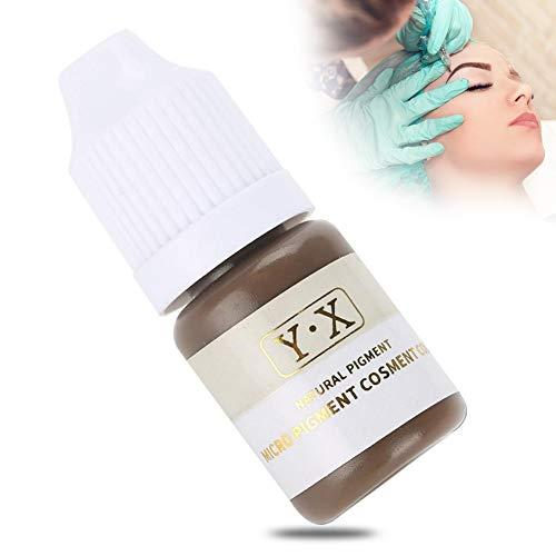 Tattoo Ink für Augenbrauen Microblading Pigmenttinte Semi-Permanent Makeup Augenbrauen Lippen Eye Line Tattoo Farbe (Braun) (Semi-tattoo)