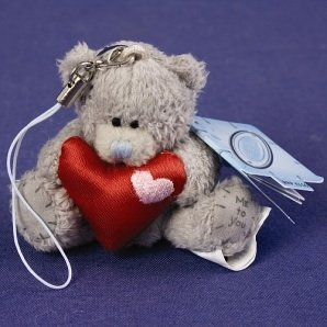 Love Me to You Bear Plush Mobile Phone Charm