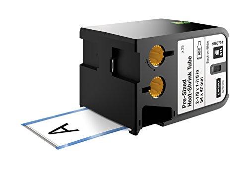 dymo-xtl-pre-sized-heat-shrink-tube-2-1-8-x-1-7-8-54-mm-x-47-mm-black-on-white