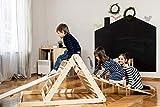 Triángulo de Pikler, Triángulo escalonado, Escalera para niños pequeños, Triángulo de escalada para niños pequeños, Puedes elegir un triángulo sin o con una o dos rampas.
