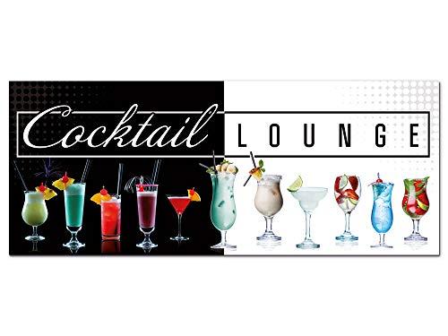 GRAZDesign Wandbild Cocktails Lounge Schwarz/Weiß Strandbar Küche - Acrylglasbild - Bilder aus Acryl Glas XXL - Bar Dekoration - freischwebende Optik / 125x50cm / 100085_002_01_04