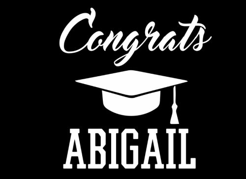 Congrats Abigail: Graduation Cap Guest Signing Book For Party, Personalized Gift. Graduate Advice or Autograph Book Lined. (Tassel Zone) Abigail Caps