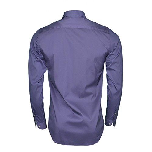 Chemise basique slim fit Lacoste bleu marine pour homme Bleu