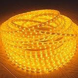 HJ® 10m LED Lichtschlauch Lichterkette Lichterschlauch Fensterbeleuchtung Dekolicht für Außen&Innen Dekoration Weihnachten Hochzeit Gelb