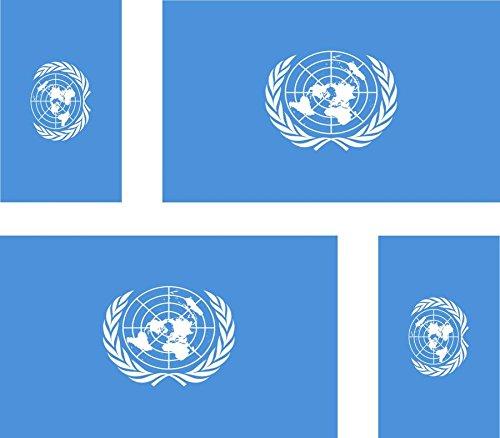 Preisvergleich Produktbild Akacha Aufkleber für Auto,  Motorrad,  Koffer,  PC,  Motiv: Flagge der UNO,  4 Stück