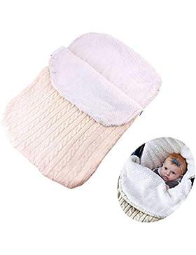 Neugeborenes Baby Gestrickt Wickeln Swaddle, Herbst Winter Dick Fleece Decke Schlafsack für Maxi-Cosi, Römer,...