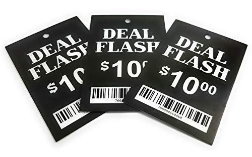 Vorgedruckte Etiketten zum Aufhängen von Kleidung, 5,1 x 7,6 cm, Einzelhandelskleidung, Boutique, Flohmarkt, Garage, Verkaufspreis, Etikett zur Verwendung mit Etikettierpistole 200 Deal Flash $10 (Flash Maker Card)