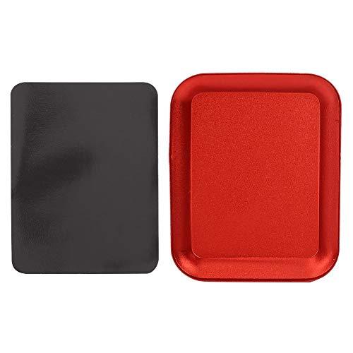 Vassoio per parti magnetiche, Vassoio per minuteria magnetica Design avanzato dello strumento Modello Ciotola per dadi di immagazzinaggio per viti a piastra Bulloni per viti(Rosso)