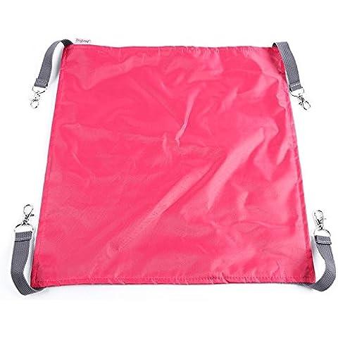 WNX-Oxford cat gabbia amaca letti pet lettiera di gatto di due impermeabile multifunzionale cat letti in estate e inverno coperte,rosa rosso: s