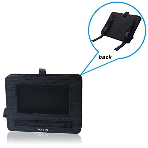 WONNIE Auto Kopfstützenhalterung für Drehgelenk & Flip Tragbarer DVD Player KFZ Kopfstütze Halterung Gehäuse (Black) (10.5 inch) - 7