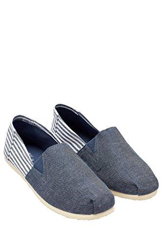 Next uomo scarpe senza lacci di tessuto blu eu 47