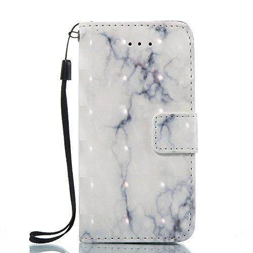 Marmor Stein Grain Texure Pattern PU Ledertasche Cover, Retro Bookstyle Flip Stand Case mit Magnetverschluss & Card Slots & Lanyard für iPhone 5S & SE ( Color : E ) C