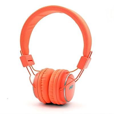 GranVela Q8 Auriculares Bluetooth De Diadema Plegables Con Entrada Micro SD Para Reproducir Música, Radio FM [11 Diferentes Colores] - naranja