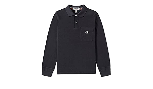 cb051cea5700ac FRED PERRY NIGEL CABOURN LONG SLEEVE TRAINING PIQUE SHIRT (38)   Amazon.co.uk  Clothing
