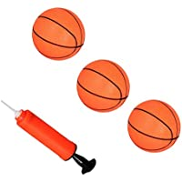 YeahiBaby Mini Pelota de Baloncesto Inflable Pelota de Deportes para Niños con un Inflador 4 Piezas
