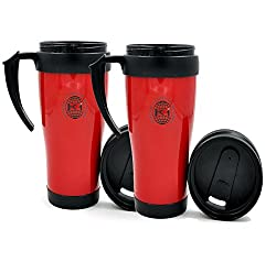 King International Plastic Red & Black Sipper Water Bottle |Double-Walled for Better Insulation,Set Of 2 Pieces