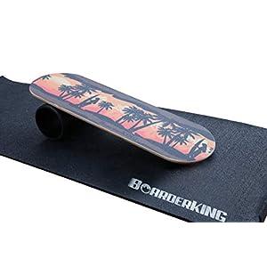 BoarderKING Indoorboard Hawaii Skateboard Surfboard Trickboard Balanceboard – surfen im Wohnzimmer