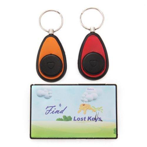 2 in 1 Wireless Key Finder Trova Chiavi Portachiavi Sonoro Allarme Ricevitori RF