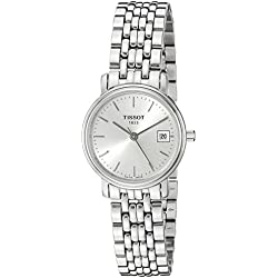 Tissot Women's Desire 24mm Steel Bracelet & Case Quartz Silver-Tone Dial Analog Watch T52.1.281.31