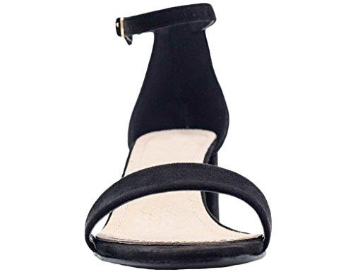 MaxMuxun Chaussures Femme Sandales Mi Talon EU 36-41 Noir