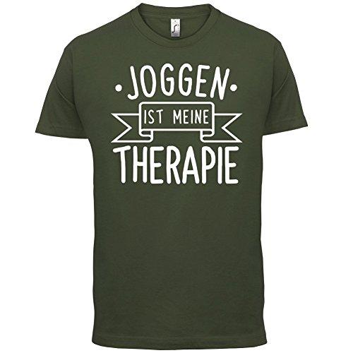 Joggen ist meine Therapie - Herren T-Shirt - 13 Farben Olivgrün