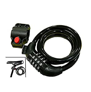 FASTPED ® Bike Bicycle Cycle Lock Cable, 4-Feet Bike Cable with Complimentary Mounting Bracket, 4 Feet X 1/2 Inch
