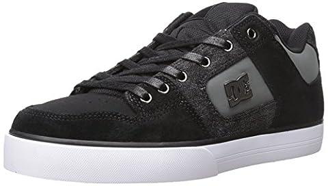DC Skateboard Shoes PURE SE BLACK DESTROY WASH Size 11 (Black Christmas Music Mix)