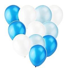Idea Regalo - TOYMYTOY 12 pollici in lattice palloncini festino palloncini giocattolo per bambini 30pcs (azzurro bianco blu Navy)
