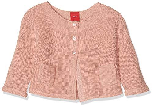 s.Oliver RED LABEL Unisex - Baby Strickjacke mit Herzknöpfen dusty pink 92