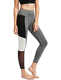 BLINKIN Mesh Yoga Gym and Active Sports Fitness Light Grey Polyester Leggings Tights with Mesh for Women|Girls(294)