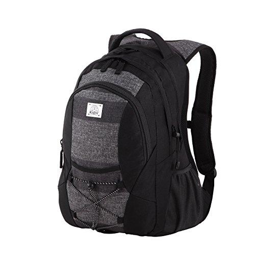 Rada Rucksack RS/3, Freizeitrucksack mit 39 Liter Volumen, DIN A4 Ordner kompatibler Schulrucksack für Mädchen und Jungen, wasserabweisender Daypack, Damen und Herren, für Freizeit und Urlaub