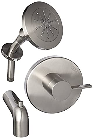 Danze D512030BNT Amalfi Single Handle Tub and Shower Trim Kit with Efficient Flow Showerhead, Brushed Nickel by Danze