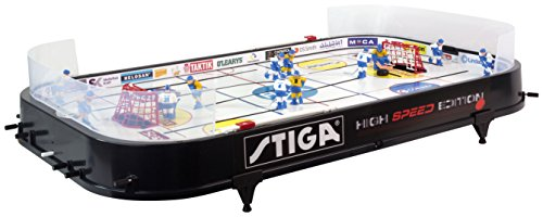 Stiga Tischhockey High Speed Eishockeyspiel, Schwarz, 90 x 50 x 8 cm (Ice Hockey Tore)
