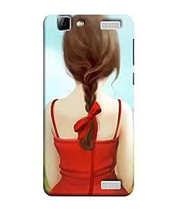 PrintVisa Red Hot Girly 3D Hard Polycarbonate Designer Back Case Cover for Vivo V1 Max