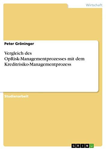 Vergleich des OpRisk-Managementprozesses mit dem Kreditrisiko-Managementprozess