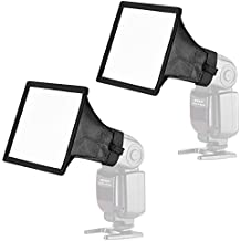Neewer 2-Pack 15x13-centímetros Kit de Difusor Softbox de Speedlite Flash para Canon 580EX II 600EX-RT, YongNuo YN560 III, Nikon SB-900 SB-910, Neewer TT560 TT520 TT660 y Otro Flash de DSLR