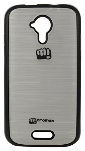 iCandy™ Colorfull Shiney Soft Black Border Cover For Micromax Canvas HD A116 - Silver  available at amazon for Rs.115