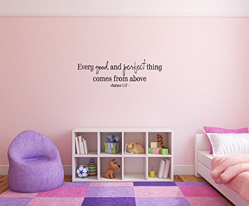 wandaufkleber schlafzimmer Every good and perfect thing coems from above -James 1:17 Removable Wall Decal Sticker DIY Art Décor for Home Nursery Kids' Girl's Room Decals