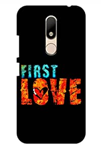 AMAN 1 Love 3D Back Cover for Moto M