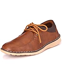Kingswalker Men's Tan Lace-Up Casual Shoe - 8 UK