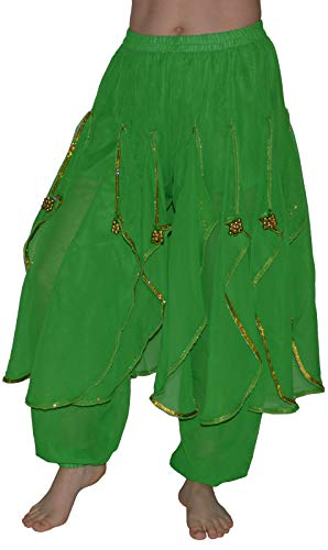 Bauchtanzhose Pumphose Bauchtanz Hose Belly Dance Hose Karneval Oriental (Oriental Belly Dance)